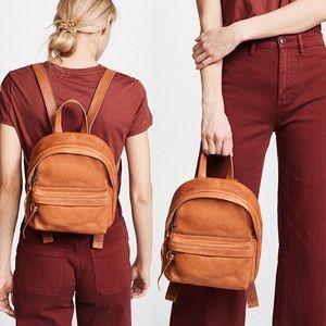 Madewell Mini Leather Lorimer Brown Tan Backpack